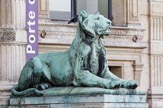 Paris - Palais du Louvre - PA00085992 - 475 - Category:Porte des Lions - Wikimedia Commons Louvre, Wikimedia Commons, Lions, Lion Sculpture, Statue, Art, Puertas, Art Background, Lion