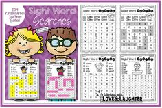 Sight Word Searches {Kindergarten Journeys Edition}