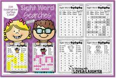 Sight Word Searches {Kindergarten Journeys Edition}