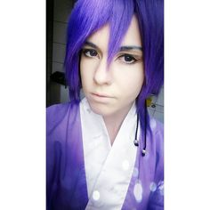So that's how I wanted to do my make-up and my wig for the Kimono version of Mura! :3 what do you think?? #cosplay #anime #manga #costest #wig #makeuptest #makeup #cosplaymakeup #knb #knbcosplay #murasakibaracosplay #murasakibara #murasakibaraatsushi #kurokonobasukecosplay #kurokonobasuke #kimono #japanese #ownversion