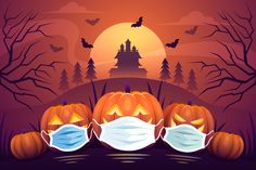 Wie feiert Ihr Halloween? Gehen Kinder von Haus zu Haus? Tragen Kinder eine Maske über der Maske? #corona #halloween #kürbis #maske Credit: Designed by vector_corp and pikisuperstar / Freepik