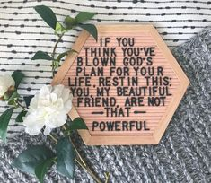 If you think you've blown God's plan got your life, rest in this; you, my beautiful friend, are not that powerful. Faith Quotes, Bible Quotes, Me Quotes, Bible Verses, Scriptures, Godly Quotes, Qoutes, Gods Plan Quotes, Quotations