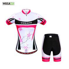 WOSAWE Women Cycling Jersey Team Breathable Summer Short Sleeve 4D gel pad mtb cycling clothing Jersey Ciclismo