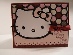 Quick Chick Designs: Hello Kitty Greetings Birthday Card
