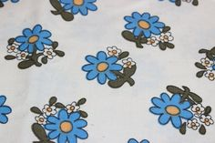 So cute vintage retro Fabric: offwhite base by TopNotchScandinavia