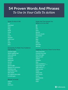 How To Write A Call To Action With 6 Examples That Will Unlock Your Creativity. Words & Phrases To Use In Calls To Action