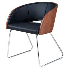 Midcentury-inspired side chair with chrome legs.Product: Side chairConstruction Material: Chrome and polyurethane...