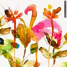 marta spendowska - watercolor pattern design