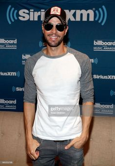Enrique Iglesias attends The Morning Mash Up on SiriusXM Hits 1 backstage broadcast leading up to the Billboard Music Awards on May 19, 2018 in Las Vegas, Nevada.
