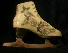 Painted ice skate