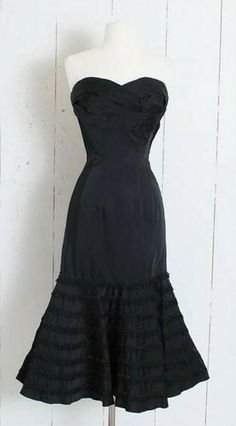 All Things, Strapless Dress, Vintage Fashion, Black, Dresses, Strapless Gown, Vestidos, Black People, Dress