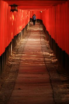 Under the torii / Sous les torii by HokutoSuisse, via Flickr #red