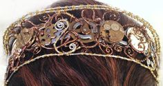 Steampunk Wire Wrap and Watch Movement Tiara by MelsMakeBelieve