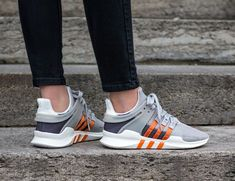 Adidas Equipment Support ADV Clear Granite Orange Shoes Eqt Support Adv, Orange Shoes, Granite, Adidas Sneakers, Fashion, Moda, Fashion Styles, Granite Counters, Fashion Illustrations