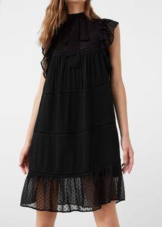 Sukienka z plisowaną wstawką | MANGO