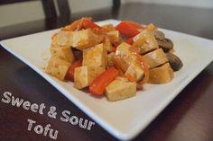 Sweet & Sour Tofu #yum #vegan #food