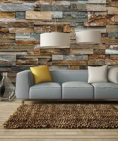 Colorful Stone Wall Mural #zulily #zulilyfinds