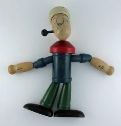 Jaymar Vintage Wooden Popeye Toy 1920-1930