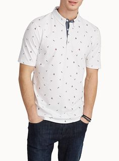 Exclusively from Le 31 for men Collection of assorted mini patterns in repeating prints Button-down polo collar Stretch organic cotton jersey The model is wearing size medium Polo Shirt Design, Polo T Shirts, Men Clothes, Men's Collection, Print Patterns, Organic Cotton, Shirt Designs, Men Casual, Mens Fashion