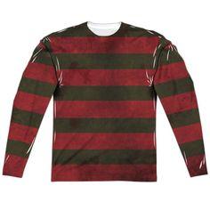 Nightmare on Elm Street Freddy Sweater Long Sleeve Sublimation Shirt