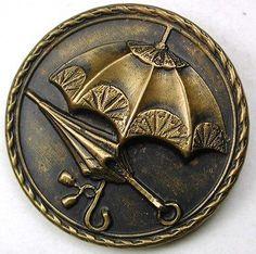Antique-Button-2-Parasol-Umbrellas-Super-Cute-1-amp-3-16-034-So-Charming