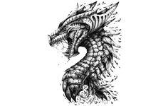 Фото обои dragon, head, teeth, scales