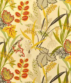 Waverly Fishbowl Sun N Shade Seaweed Fabric - $12.2 | onlinefabricstore.net