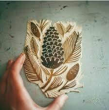 Картинки по запросу линогравюра на ткани