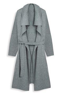 Primark - Manteau-cardigan gris en cascade