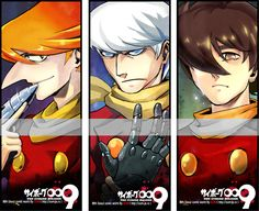 cyborg 009 by Som66.deviantart.com on @deviantART (002 on the far left remonds me of Brendon Small from Home Movies, lol.)