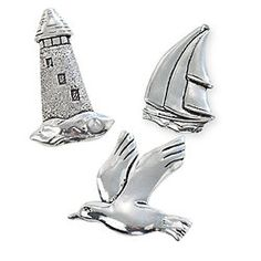 Nautical Pewter Magnets