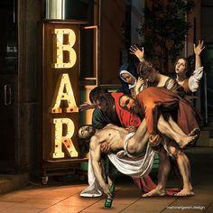 Digital Mashups Of Classic Art Masterpieces With Modern Culture - Arthusiast Memes Arte, Classical Art Memes, Arte Pop, Pop Art, Modern Art, Contemporary Art, Appropriation Art, Art Du Collage, Funny Art