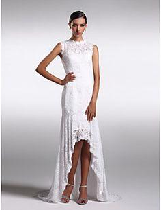 Formal Evening Dress - Ivory Sheath/Column Jewel Asymmetrica... – CAD $ 180.69