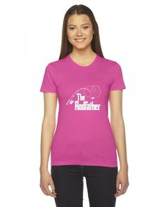 the rodfather fishing parody gift funny Ladies Fitted T-Shirt