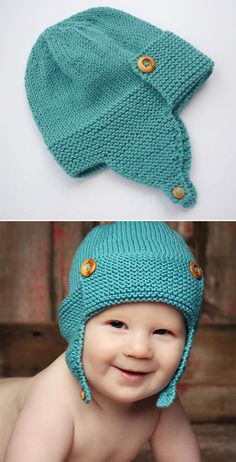 Wright Flyer Baby Aviator Hat – Knitting Pattern Wright Flyer Baby Aviator Hat – Knitting Pattern You are in the right place about Crochet carpetas. Baby Hat Knitting Pattern, Baby Hats Knitting, Sweater Knitting Patterns, Knitted Hats, Crochet Hats, Knitting Blogs, Knitting For Beginners, Knitting Ideas, Wright Flyer