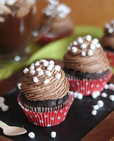 Hot Chocolate Frosting Cupcakes