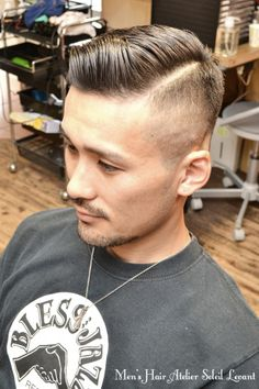 Skin fade with combover