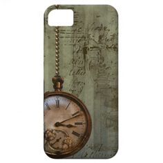 Steampunk Time Machine iPhone 5 Cover. I like the vintage pocket watch design.