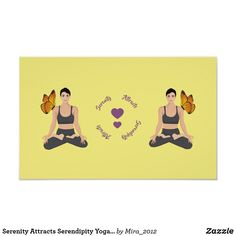 Shop Serenity Attracts Serendipity Yoga Butterfly Love Postcard created by Personalize it with photos & text or purchase as is! Love Posters, Custom Posters, Lotus Pose Yoga, Serenity Quotes, Partner Yoga Poses, Free Yoga Videos, Face Yoga, Get Well Gifts, Inspirational Posters