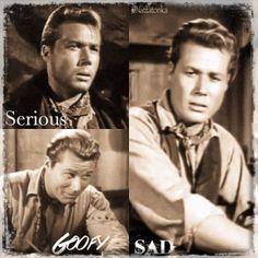 3 Slim moods | My Fanart | Laramie John Smith Actor, Laramie Tv Series, Robert Fuller, The Rifleman, Beautiful Eyes, Beautiful People, The Virginian, Tv Westerns, Western Movies
