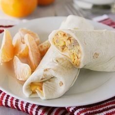 Cheesy Sausage Breakfast Burritos - make ahead and freeze for easy breakfasts!