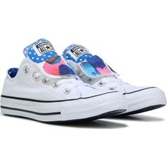 e2b3d3335f00 Converse Women s Chuck Taylor All Star Double Tongue Low Top Sneaker at Famous  Footwear Cool Converse