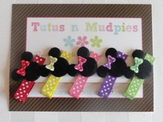 Gift Pack of bows  Minnie Mouse by TutusnMudpies on Etsy, $9.00