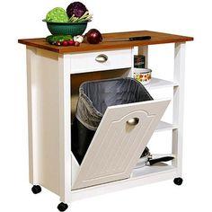 Butcher Block Basic Kitchen Cart - Walmart.com
