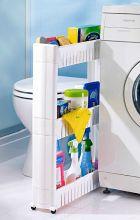 Mobilní prostorově úsporný regál Small Storage, Bad, Washing Machine, Police, Home Appliances, Organization, Cabinet, Interior, Furniture