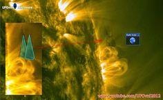 Sombra de Dois UFOs Gigantescos Saindo do Sol ( 2X o Tamanho da Terra ) 18 de Janeiro 2015