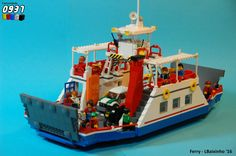 https://flic.kr/p/DeW14L | Ferry (2) | Inspired by LEGO set 60119: Ferry and a real one at Caminha, Portugal.