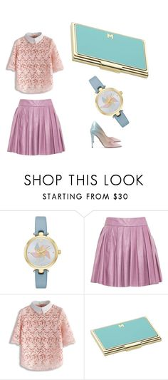 """""""Untitled #32"""" by lena-soya ❤ liked on Polyvore featuring Kate Spade, Alice + Olivia, Chicwish and Prada"""