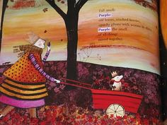 Red Sings From Treetops: A Year in Colours by Joyce Sidman, illustrated by Pamela Zagarenski