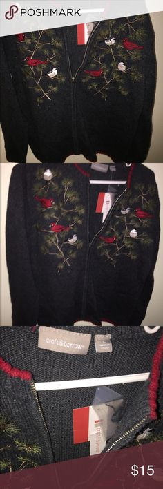 A Cardinals cardigan with pine trees Sweater/ cardigan NEW never been worn croft & barrow Sweaters Cardigans
